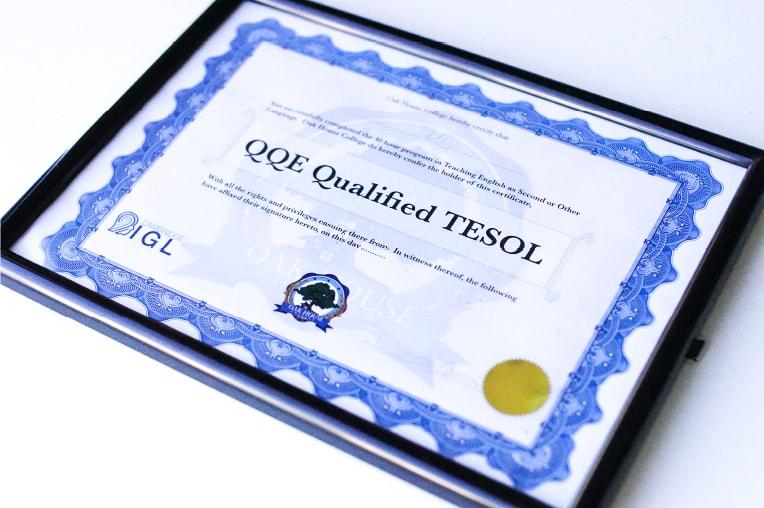 国際資格TESOL証書